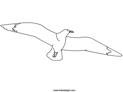 gabbiano in volo da colorare tuttodisegni - Disegno Gabbiano