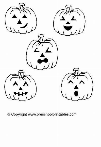 Pumpkins Five Printable Worksheet Felt Coloring Template