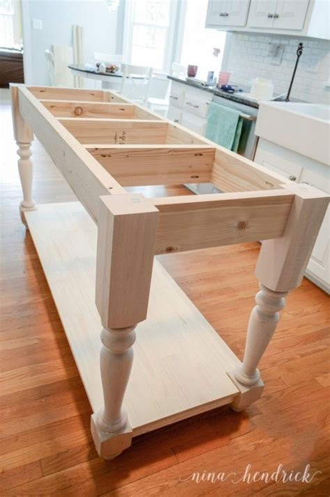 how to build a movable kitchen island how to build a diy furniture style kitchen island free plans