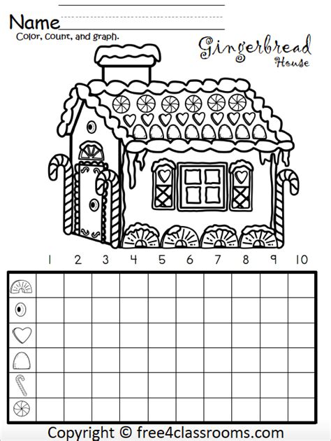 gingerbread house math graphing activity