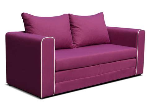 canapé couleur prune canapé fixe convertible 2 places en tissu coloris