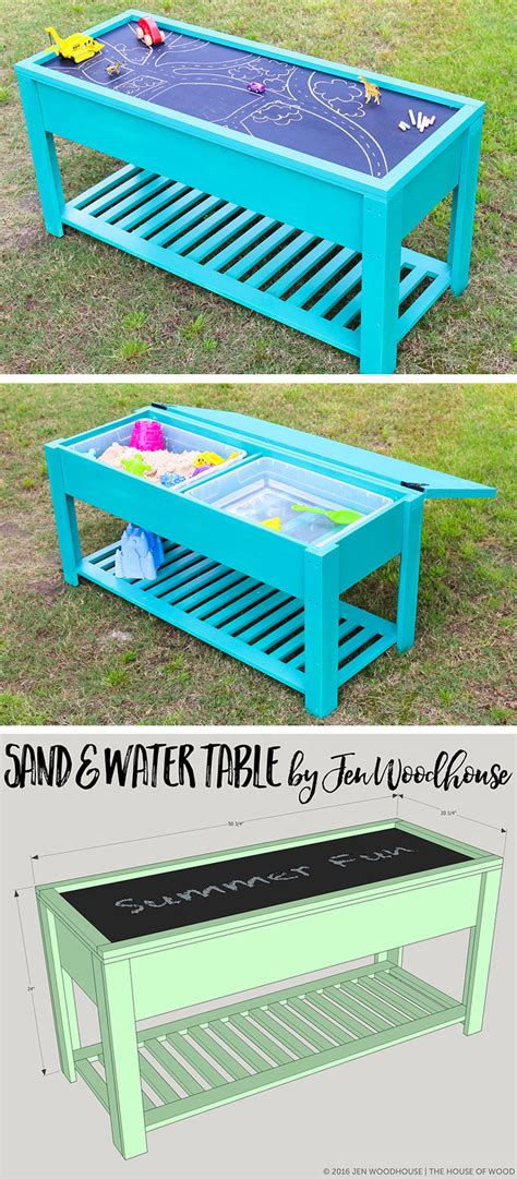 how to sand a table how to make a sand and water table
