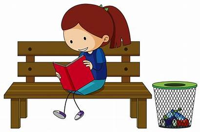Bench Reading Sitting Vector Clipart Graphics Chair