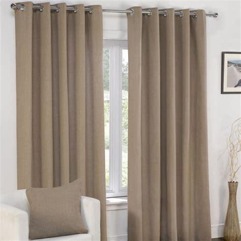 plain taupe mocha lined eyelet curtains tony s