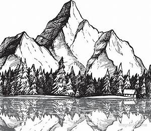 """""""Scenic Mountain with Reflection in Lake Water // Snowy ..."""
