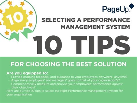 10 Tips For Choosing The Best Performance Management System