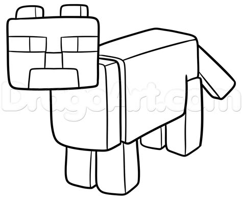 How To Draw A Minecraft Ocelot, Step By Step, Video Game