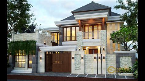 jasa arsitek desain rumah villa bali tropis ibu citra