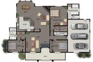 We The Open Plan Design Of This Bedroom And Bathroom by Three Bedroom House Floor Plans Small Three Bedroom House