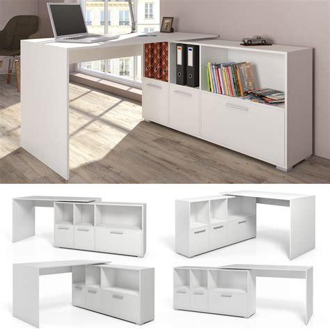 d馗or bureau bureau en u bureau d 39 angle bureau multimédia de couleur de blanc ebay