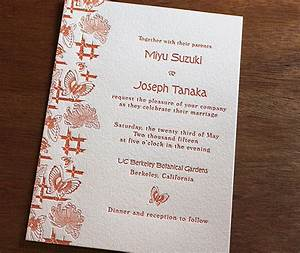 cho new japanese wedding invitation design letterpress With wedding invitation free japanese
