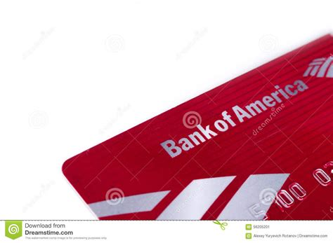 Bank of america offers deposit accounts, loans, credit cards, and investing services. Bank Of America Debit Credit Card Editorial Photo - Image of editorial, account: 56205201