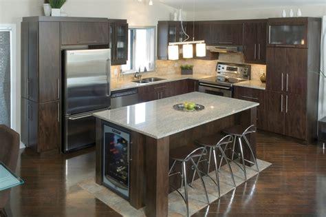 mod鑞e de plan de travail pour cuisine modele cuisine avec ilot photo cuisine lot central moderne ambiance patchwork modele