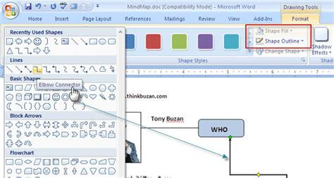 word tools how to build a mind map in microsoft word afreecodec com