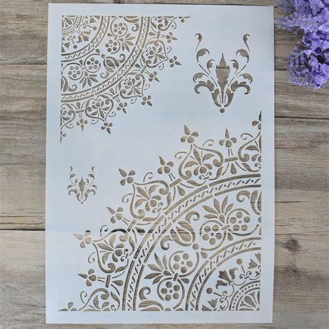 diy craft mandala stencils for walls painting scrapbooking sting st album decorative