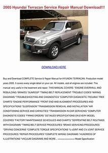 2005 Hyundai Terracan Service Repair Manual D By