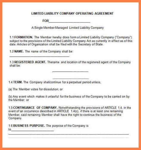 6 limited liability company agreement template company letterhead