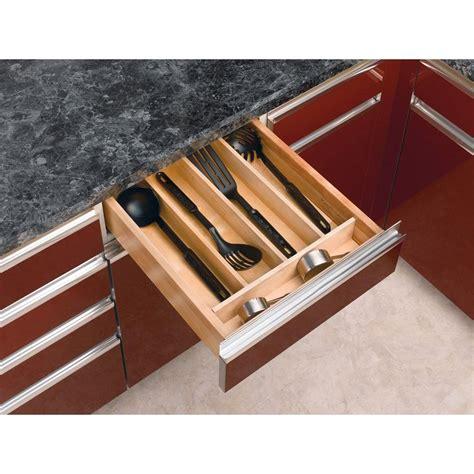 rev  shelf            short wood cabinet drawer utility tray insert