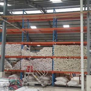 sell rack for textile and fabric warehouse from indonesia