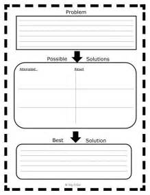 Problem Solution Chart Graphic Organizer