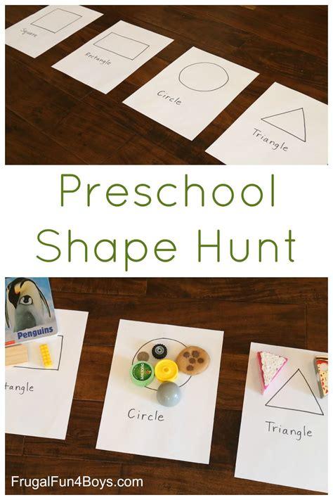 preschool shape scavenger hunt preschool shapes simple 880 | b703d92864b11ae59877038fb6024ea8