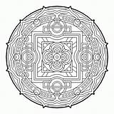 Coloring Geometric Pages Geometry Sacred Cool Mandala Fractal Therapy Complex Colouring Adult Para Mandalas Books Colorear Beaver Pattern Sheets Printable sketch template