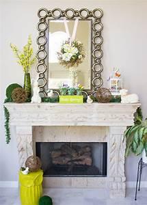 Hello, Spring, Mantel, Decorating, Ideas