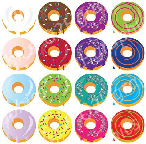 Donut Clipart Donuts Clipart Bakery Clip Vector Clipart Digital