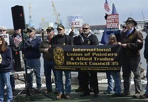 Shipyard workers protest cuts - Portland Press Herald