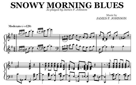snowy morning blues pdf by james p johnson
