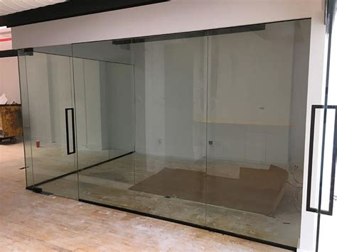 office glass partition walls installation