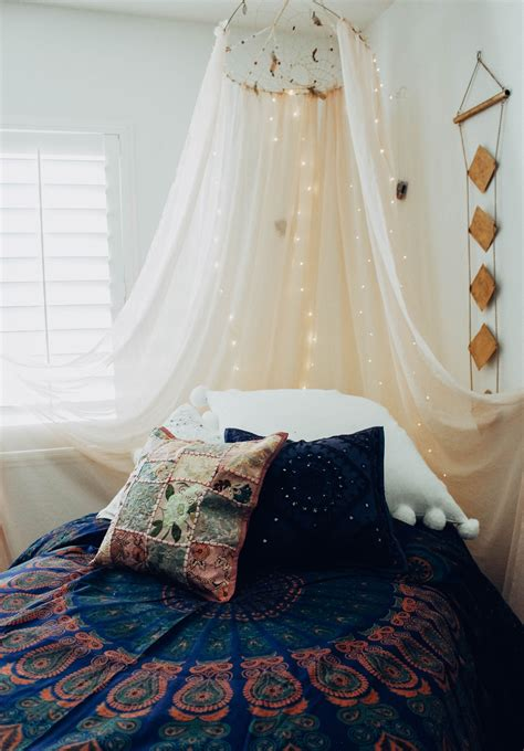 bedroom goals tapestries wall hangings twinkle lights