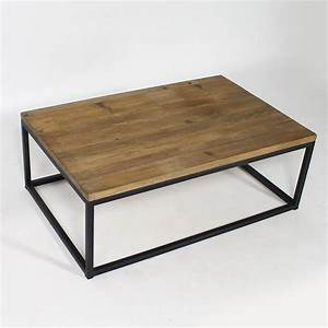 Table Basse Industrielle Bois Recycl Et Mtal Made In