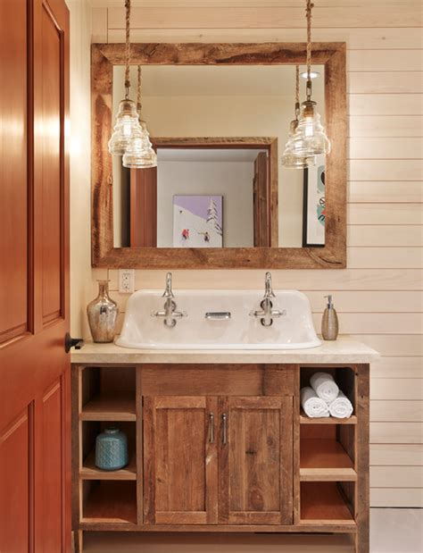 rustic bathroom vanity aspen mountain modern rustic bathroom houston by Modern