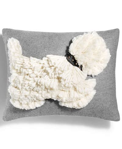 "Martha Stewart Collection Stand Out Scottie 14"" x 18"" Decorative Pillow, Created for Macy's"