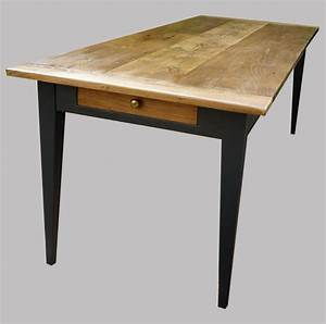 Table Ancienne Bois Avec Tiroir