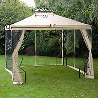 excellent patio tent with net ** Cheap 10 X 10 Ft Garden Patio Canopy Gazebo Replacement ...