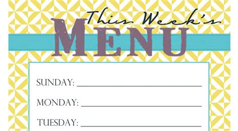 free printable menu templates 7 best images of free printable menu templates recipe card template