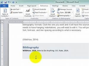 how to automatically generate a work cited page through With automated document generation in microsoft word
