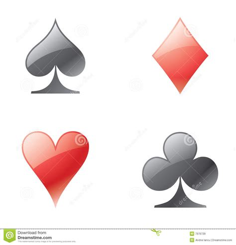 playing card icons royalty  stock images image