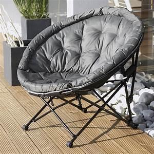 Fauteuil Jardin Gifi : fauteuil de jardin en acier moon noir et gris leroy merlin ~ Teatrodelosmanantiales.com Idées de Décoration