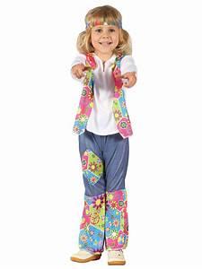Toddler Hippy Costume Boys Girls 1960u0026#39;s Fancy Dress Hippie Outfit 60s 70s Flower | eBay