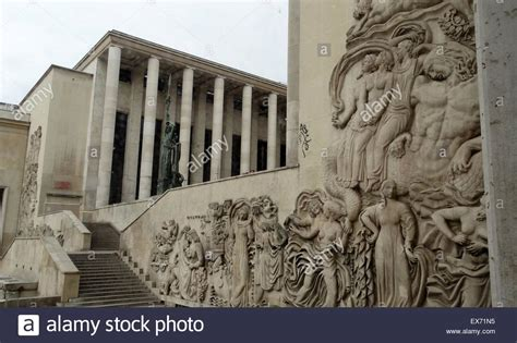 the palais de tokyo the eastern wing of the building stock photo royalty free