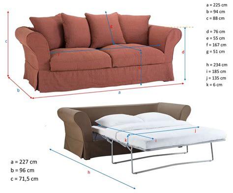 dimension canape ᐅ test et avis du canapé convertible roma de maisons du monde