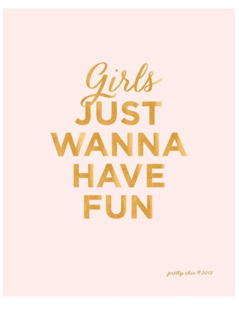 Girl Just Wanna Have Fun Items Similar To Girls Just Wanna Have Fun Art Print