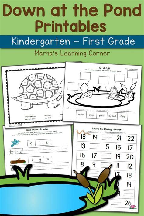 pond worksheets for kindergarten and grade updated