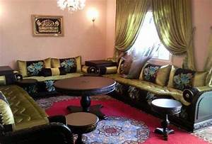 salon marocain tissu moderne deco salon marocain With salon en tissus moderne