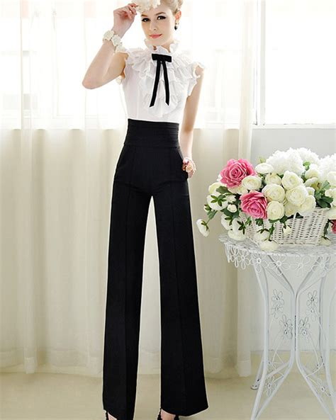 Women Casual High Waist Flare Wide Leg Long harem Women Pants pantalon palazzo mujer Trousers ...