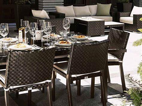chaises restaurant tables et chaises en fibres synthétiques tressage
