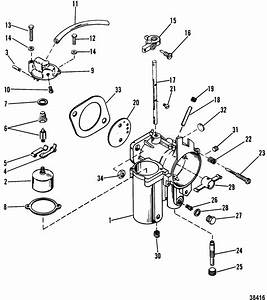35 Hp Mercury Carburetor Diagram  35  Free Engine Image